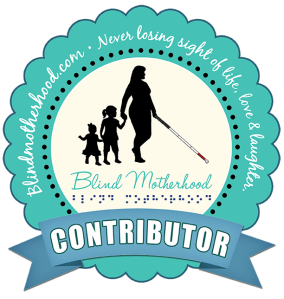 "Image shows a badge linking to ""Visions: A Tale from the Ultrasound Room"" posted on http://blindmotherhood.com/"